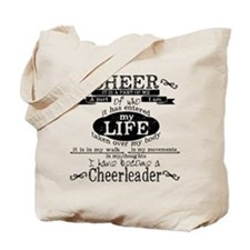 Chalkboard Cheerleading Tote Bag