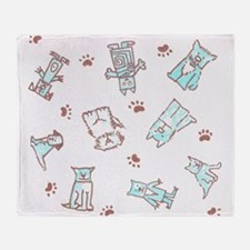 Dogs and Pawns Throw Blanket