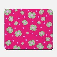 Cute Hot Pink LUCKY IN LOVE Mousepad