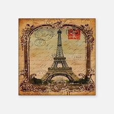 """vintage scripts postage par Square Sticker 3"""" x 3"""""""