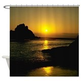 Beach at night Shower Curtains