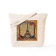 vintage scripts postage paris eiffel towe Tote Bag
