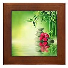 Zen Reflection Framed Tile
