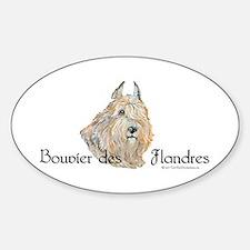 Bouvier Sweetie Sticker (Oval)