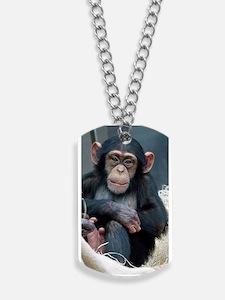 Chimpanzee 007 Dog Tags
