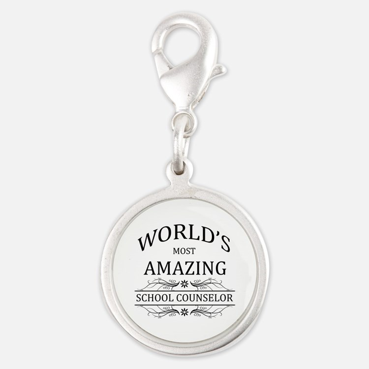 World's Most Amazing School Co Silver Round Charm