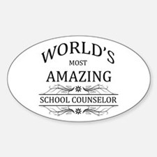 World's Most Amazing School Counsel Sticker (Oval)