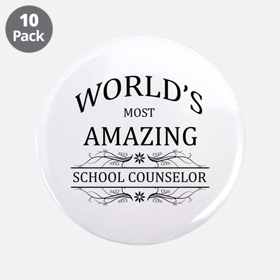 """World's Most Amazing School 3.5"""" Button (10 pack)"""