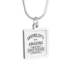 World's Most Amazing Dance Silver Square Necklace