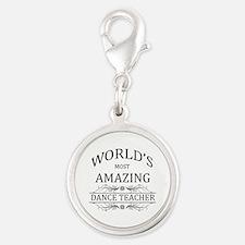 World's Most Amazing Dance Tea Silver Round Charm