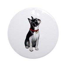 Boston Terrier #3 Ornament (Round)