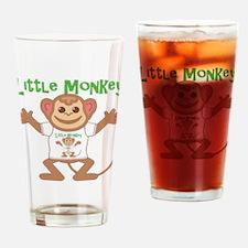 Little Monkey Boy Drinking Glass