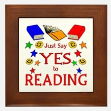 Yes to Reading Framed Tile