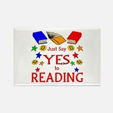 Yes to Reading Rectangle Magnet