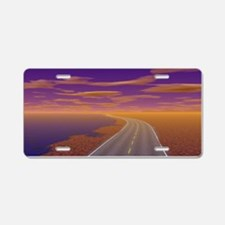 Lonesome Trucker Aluminum License Plate