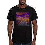 Lonesome Trucker Men's Fitted T-Shirt (dark)