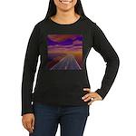Lonesome Trucker Women's Long Sleeve Dark T-Shirt