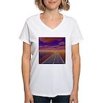 Lonesome Trucker Women's V-Neck T-Shirt