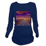 Lonesome Trucker Long Sleeve Maternity T-Shirt