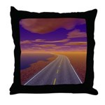 Lonesome Trucker Throw Pillow