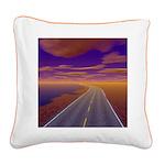 Lonesome Trucker Square Canvas Pillow