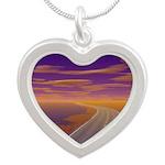 Lonesome Trucker Silver Heart Necklace