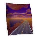 Lonesome Trucker Burlap Throw Pillow