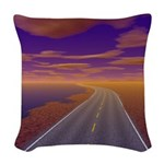 Lonesome Trucker Woven Throw Pillow