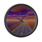 Lonesome Trucker Large Wall Clock