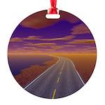 Lonesome Trucker Round Ornament
