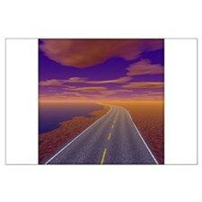 Lonesome Trucker Large Poster