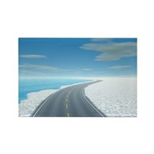 Ice Road Rectangle Magnet
