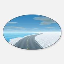 Ice Road Sticker (Oval)