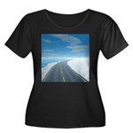 Ice Road Women's Plus Size Scoop Neck Dark T-Shirt