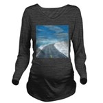 Ice Road Long Sleeve Maternity T-Shirt