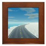 Ice Road Framed Tile