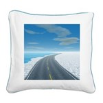 Ice Road Square Canvas Pillow