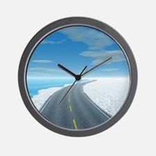 Ice Road Wall Clock