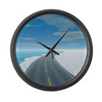 Ice Road Large Wall Clock