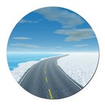 Ice Road Round Car Magnet