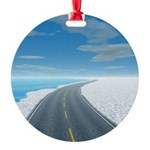 Ice Road Round Ornament