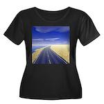 Fine Day Women's Plus Size Scoop Neck Dark T-Shirt