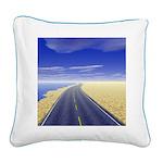 Fine Day Square Canvas Pillow