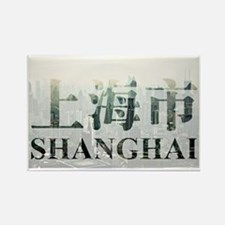 Shanghai in Chinese cityscape Rectangle Magnet