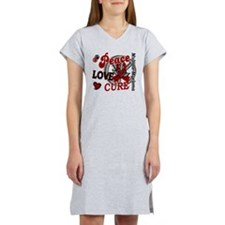 Multiple Myeloma Peace Love Cur Women's Nightshirt