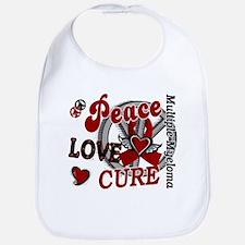 Multiple Myeloma Peace Love Cure 2 Bib