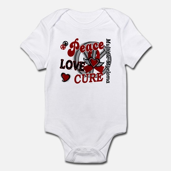 Multiple Myeloma Peace Love Cure 2 Infant Bodysuit