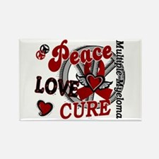 Multiple Myeloma Peace Love Cure Rectangle Magnet