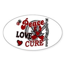 Multiple Myeloma Peace Love Cure 2 Decal