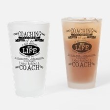 Chalkboard Coach Drinking Glass